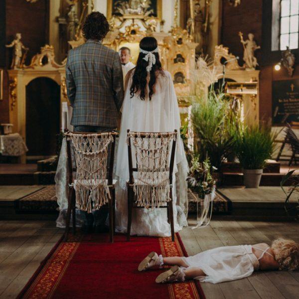 Rustykalny ślub w Leniwce