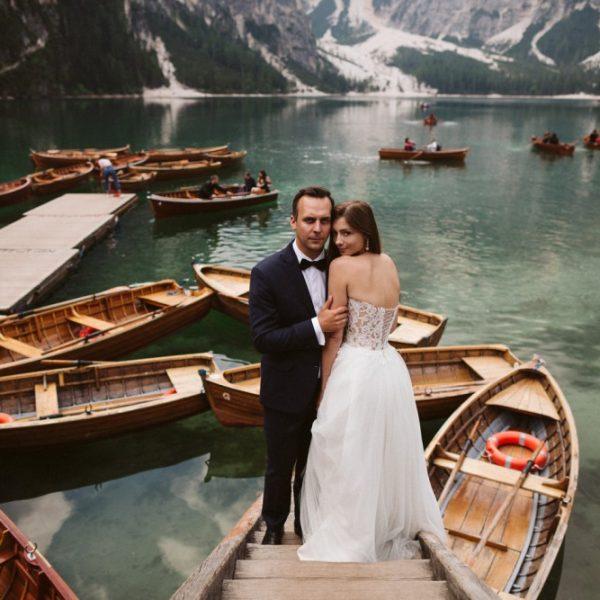 Lago di Braies. Dolomity.